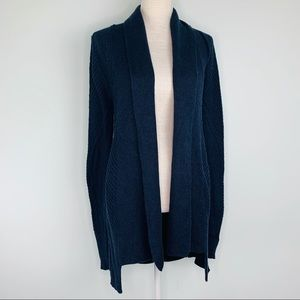 Cabi Blue Long Open Knit Cardigan Sz XS
